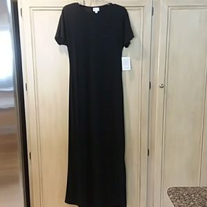 Lularoe new extra small Maria solid black maxi